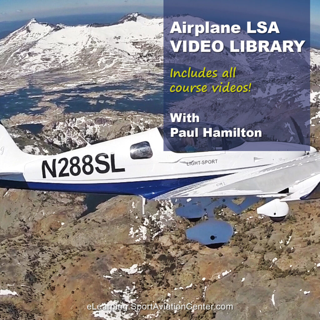 Sport Aviation Center Elearning Airplane LSA Courses Video Library